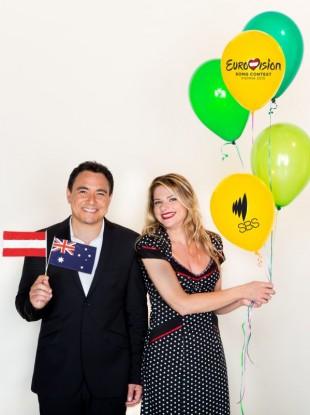 Sam Pang and Julia Zemiro, SBS commentators
