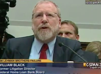 William Black before a US congressional hearing in April 2010