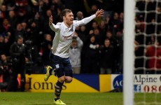 What did Preston defender get for his FA Cup goal against Man United? £1 from his granny