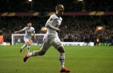 Roberto Soldado scored a rare Tottenham goal tonight and it was a cracker too
