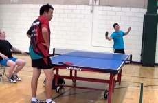 Behold the luckiest table tennis shot of all time
