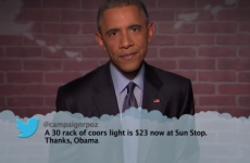 Obama read out all these mean tweets about himself