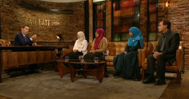Alan Shatter made a surprise appearance with the Halawa sisters on the Late Late