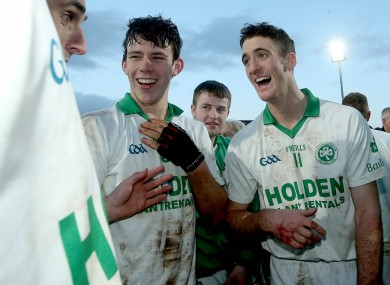 Colin Fennelly was all smiles with his Ballyhale teammates after last year's Leinster club final win.
