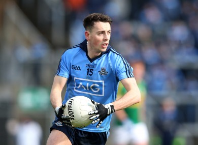 Cormac Costello won't start due to injury tomorrow night for Dublin.