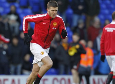 In-form: Manchester United midfielder Michael Carrick.