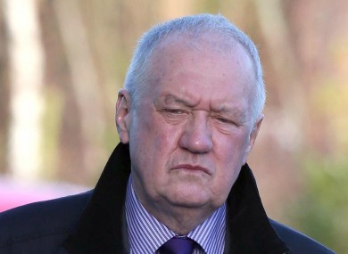 Duckenfield arrives at the Hillsborough Inquest in Warrington earlier
