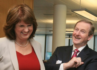 Happy days for Joan Burton and Enda Kenny