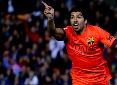 Barcelona forward Luis Suarez.