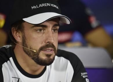 Fernando Alonso (ESP) McLaren in the FIA Press Conference.