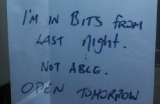 One Galway man had a very good reason to close his shop yesterday
