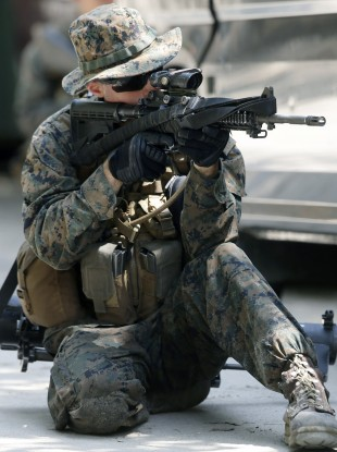 File photo of a US soldier.