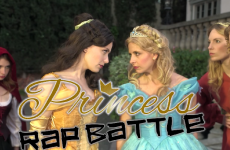 Watch Cinderella and Belle have it out in an epic Disney princess rap battle