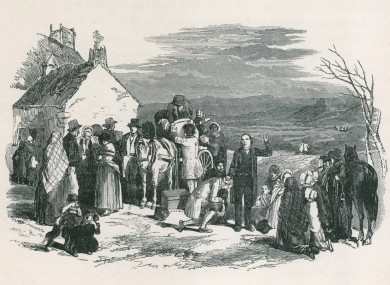 Scene from the Great Famine, 1850.