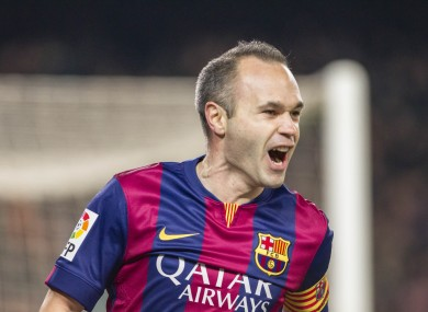 Anders Iniesta features in our team.