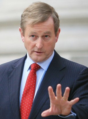 Enda Kenny at Government Buildings today