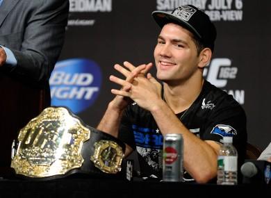 UFC middleweight world champion Chris Weidman.