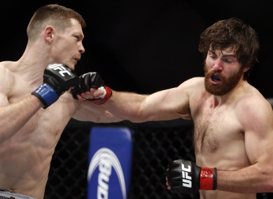 Joseph Duffy in action against Jake Lindsey.