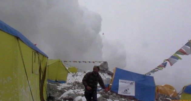 Irish climber catches on video the moment deadly earthquake rocked Everest
