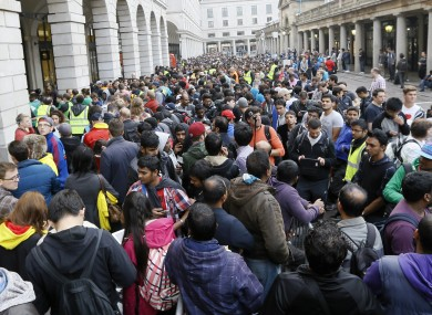 The queue outside an Apple store in London for the launch of the iPhone 6.