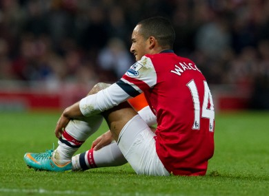 Arsenal's Theo Walcott has suffered glute injuries in the past.