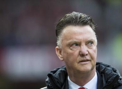 Louis van Gaal was handed a list of transfer targets by a fan.