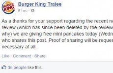 Burger King Tralee offer free pancakes after Facebook gaffe — but is it a big fat hoax?