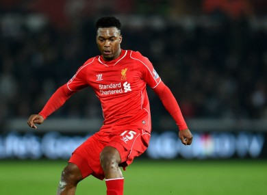 Sturridge has missed large chunks of the season and has yet to return to full fitness.