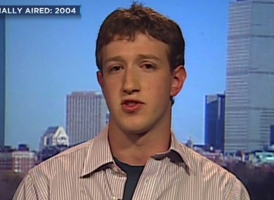 Facebook founder Mark Zuckerberg in 2004