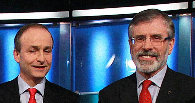 Gerry Adams and Micheál Martin had a big row on Morning Ireland