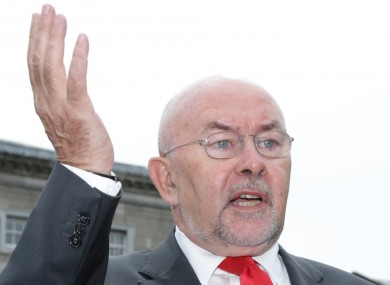 Ruairi Quinn announcing his decision to quit politics at the next election last year.