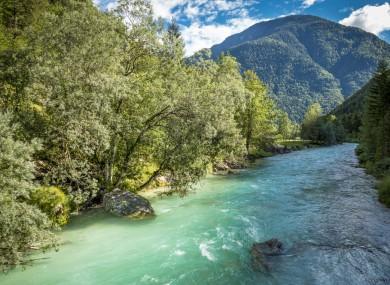 File photo of the Soca river in Slovenia