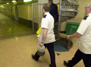 Staff working inside Mountjoy Prison
