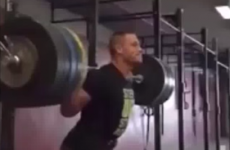 Not a real sport?! Check out WWE wrestler John Cena squatting 180kg
