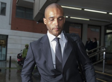 Clarke Carlisle leaving Highbury Corner Magistrates Court in London today.
