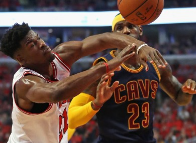 The Chicago Bulls against the Cleveland Cavaliers