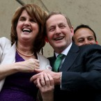 Joan and Enda enjoying the moment together. <span class=