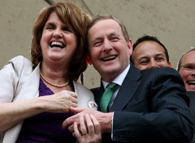 Joan Burton and Enda Kenny were the toast of Dublin Castle on Saturday.