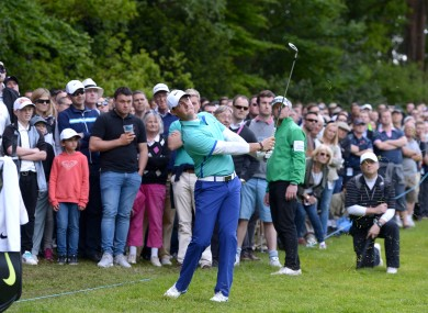 Rory McIlroy during day one of the 2015 BMW PGA Championship at the Wentworth Golf Club.