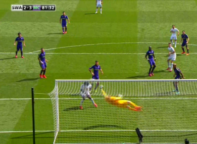 Hart denied Swansea a certain equaliser with less than 10 minutes to play.