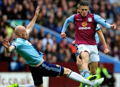 Aston Villa midfielder Jack Grealish.