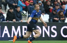 Another Ireland international joins Leinster's lengthening injury list