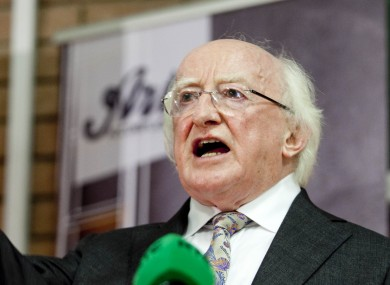 President Michael D Higgins is one of the oldest presidents we've ever had