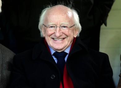 President Higgins watched Galway lose to struggling Drogheda (file photo),