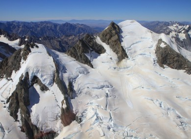 Tasman Glacier from the sky