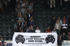 Newcastle United fans occupy St James Park in a protest against Mike Ashley