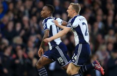 Berahino brace inspires West Brom to shock win over 10-man Chelsea