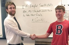 This teacher promised to cancel his students' exams if they get Taylor Swift to call him