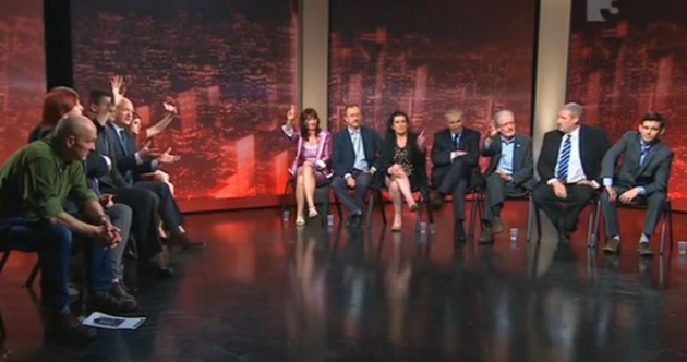 With mutters of 'Jesus Christ', an exasperated Vincent Browne presided over a bizarre debate last night