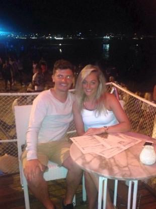 Eamonn Morgan and his girlfriend Charlotte Sant